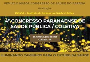 Inscrições abertas para o 4º Congresso Paranaense de Saúde Pública