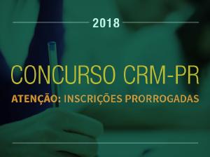 Inscrições prorrogadas para o concurso do CRM-PR