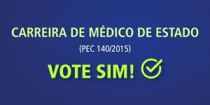 Carreira de médico de Estado: apoie votando sim