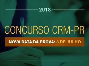 Provas do concurso do CRM-PR serão realizadas no dia 8 de julho
