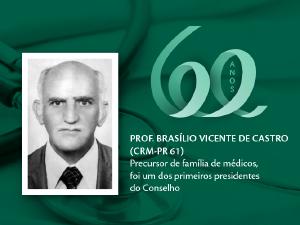 Homenagem aos Pioneiros: Prof. Brasílio Vicente de Castro (CRM-PR 61)