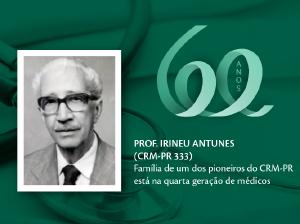 Homenagem aos Pioneiros: Prof. Irineu Antunes (CRM-PR 333)