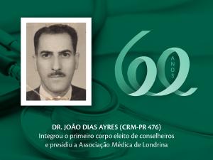 Homenagem aos Pioneiros: Dr. João Dias Ayres (CRM-PR 476)