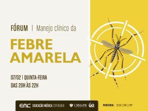 Febre amarela é tema de aula de Educação Médica Continuada nesta quinta-feira (7)