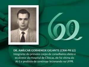 Homenagem aos Pioneiros: Dr. Amílcar Gigante (CRM-PR 52)