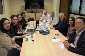 Comissão de Integração com Estudantes recebe membros do comitê local da PUCPR e UP