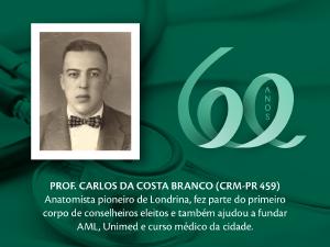 Homenagem aos Pioneiros: Prof. Carlos da Costa Branco (CRM-PR 459)