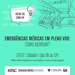 Dicas do CRM-PR: Emergências médicas em pleno voo - como abordar?