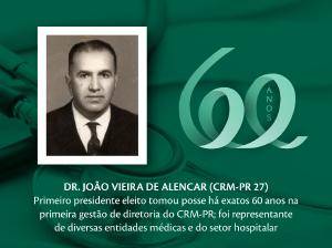 Homenagem aos Pioneiros: Dr. João Vieira de Alencar (CRM-PR 27)