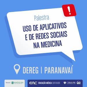 Palestra: Uso de aplicativos e de redes sociais na Medicina