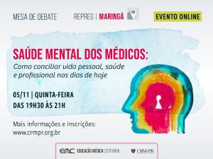 Palestra: Saúde mental dos médicos: Como conciliar vida pessoal, saúde e profissional