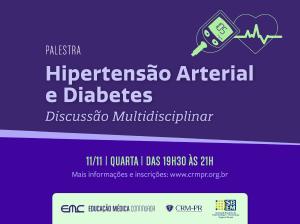 Palestra: Hipertensão Arterial e Diabetes - Discussão Multidisciplinar