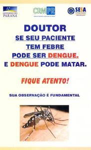 CRM e Sesa distribuem folder sobre a dengue