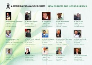 Levantamento mostra que pelo menos 57 médicos perderam a vida por causa da Covid-19 no Paraná