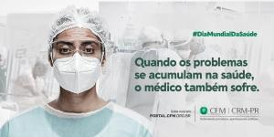 CFM lança campanha que ressalta a necessidade de cuidar da saúde dos médicos