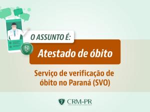 Serviço de Verificação de Óbito no Paraná (SVO)