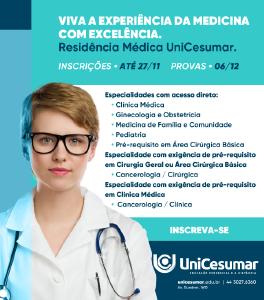 Programas de residência médica em diversas especialidades têm inscrições abertas na UniCesumar