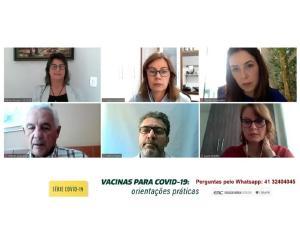 CRM-PR promove nova rodada de palestras com orientações sobre as vacinas contra a Covid-19