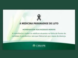 CRM-PR presta homenagem às vítimas da Covid-19 durante solenidade do Dia do Médico