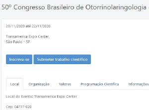 50º Congresso Brasileiro de Otorrinolaringologia e Cirurgia Cérvico-Facial