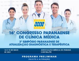 16º CONGRESSO PARANAENSE DE CLÍNICA MÉDICA
