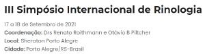 III Simpósio Internacional de Rinologia