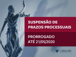 CFM mantém suspensão de prazos processuais