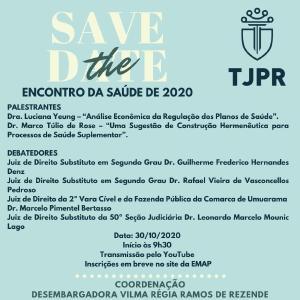Escola da Magistratura do Paraná realiza webinário Encontro da Saúde de 2020